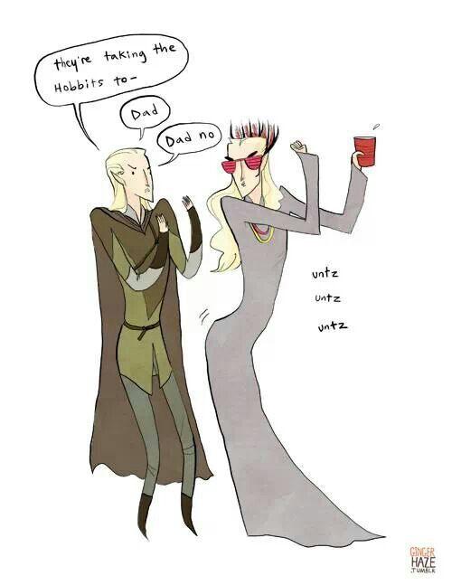 Legolas and Thranduil!