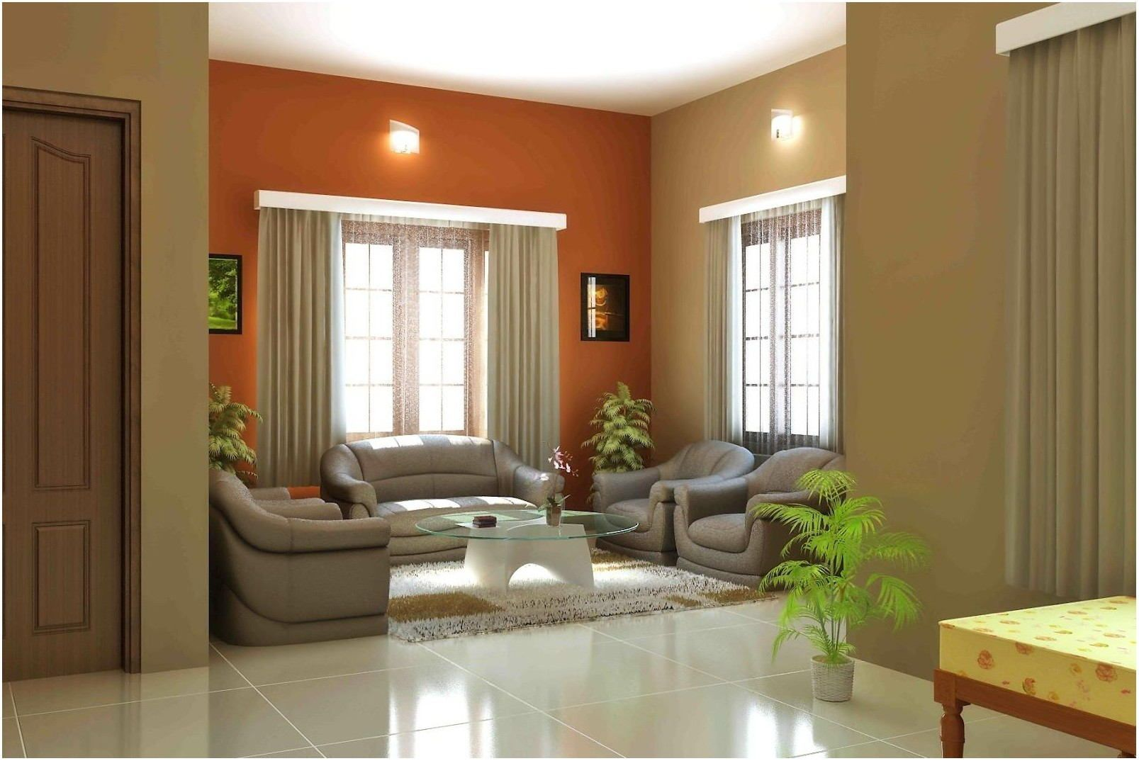 Interior Living Room Simple Color Drawing Interior House Colors