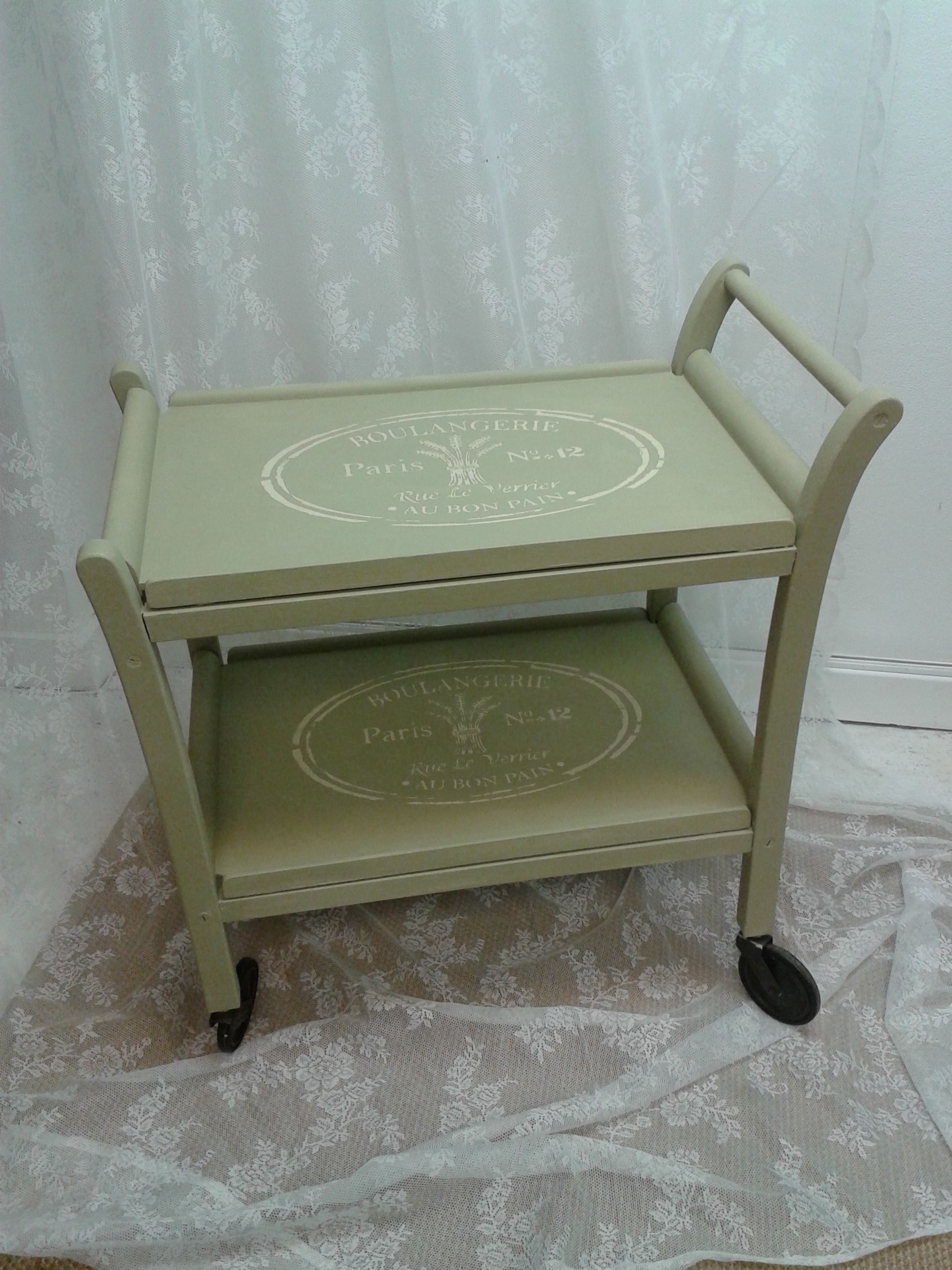 Totally a tea time treat gorgeous vintage tea trolley hand painted in Autentico Chalk Paint