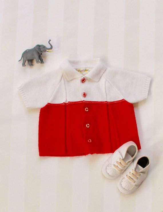 c7e6054f0 Baby Christmas Blouse 0-6 months Vintage Baby by ElleBelleVin ...