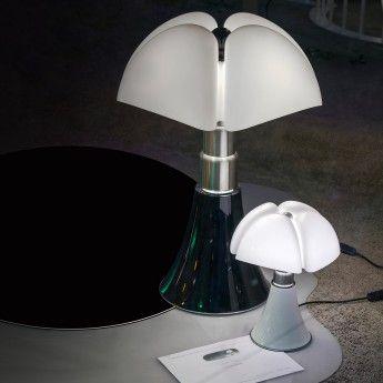 Lampe design PIPISTRELLO LED 14W noir téléscopique