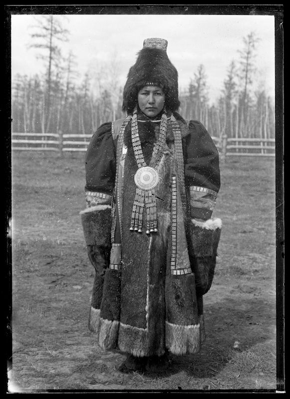 AMNH Image Collection | Wealthy Yakut woman in elaborate clothing, Siberia, Russia, 1902