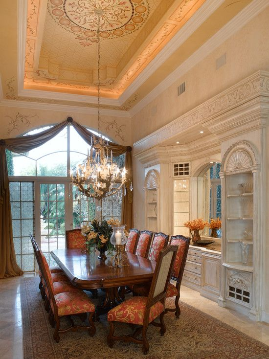 Mediterranean Dining Room Design Pictures Remodel Decor And Ideas Page 2