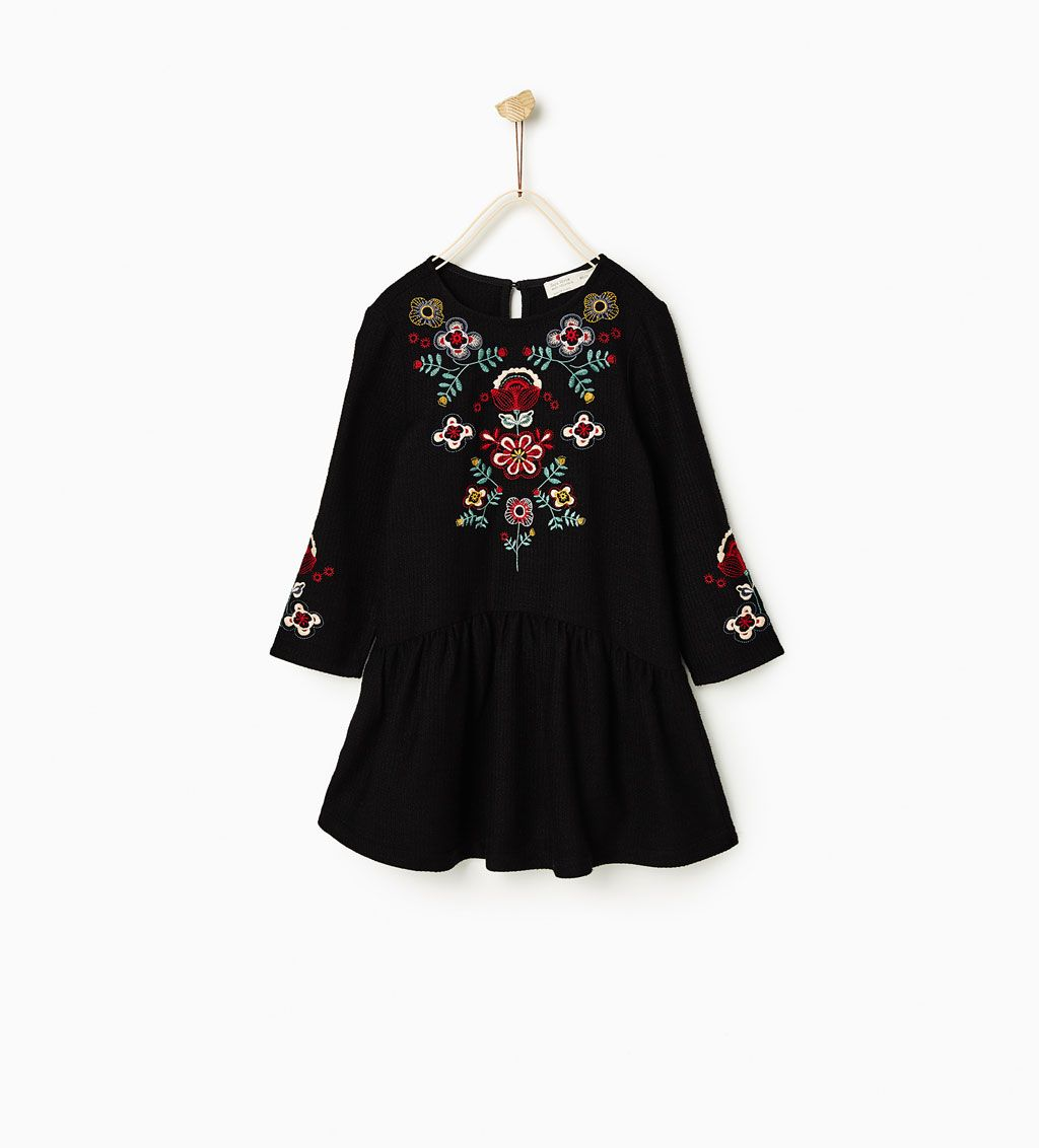 Floral Embroidered Dress Dresses Girl 4 14 Years Kids