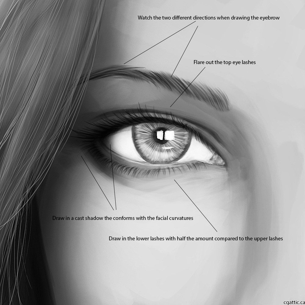 An Eye Drawing Guide For Artists: Learning How To Draw An Eye One Step At A  Time!