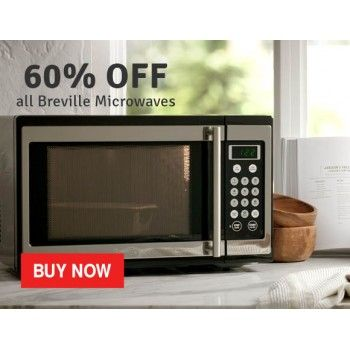 60 off sale on all breville microwaves