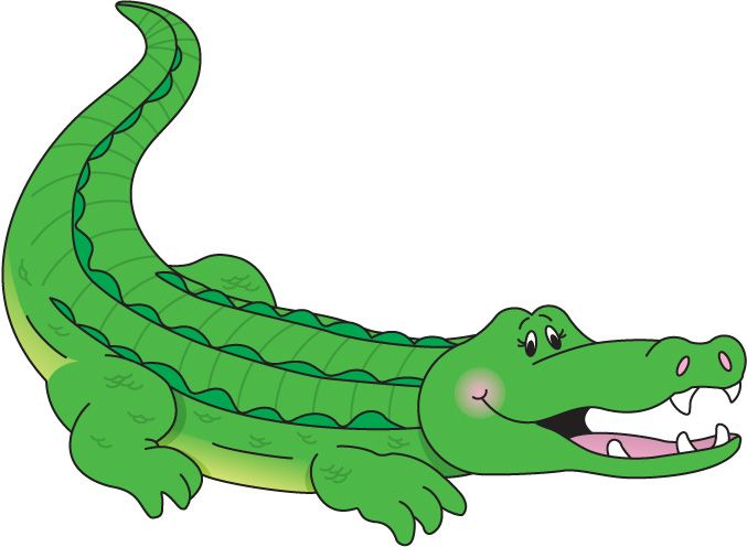 free alligator clip art carson dellosa letters and numbers rh pinterest com clip art crocodile animated crocodile clipart image
