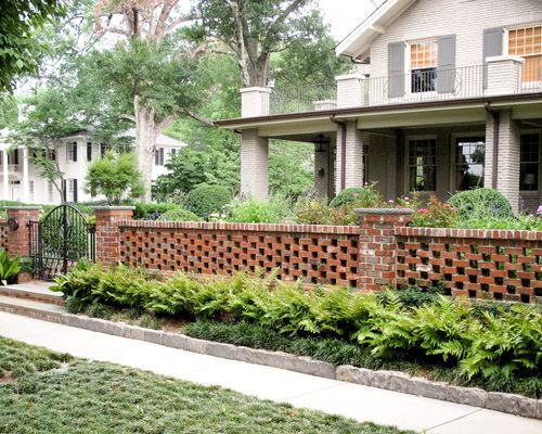 Pierced Brick Wall Landscape Ideas Designs Remodels Photos