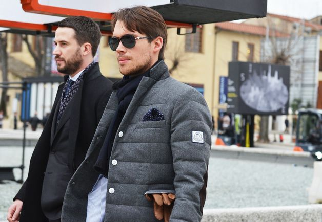 Quilted Sport Coat. Man Chic. Perfectly accessorized. Bravo.
