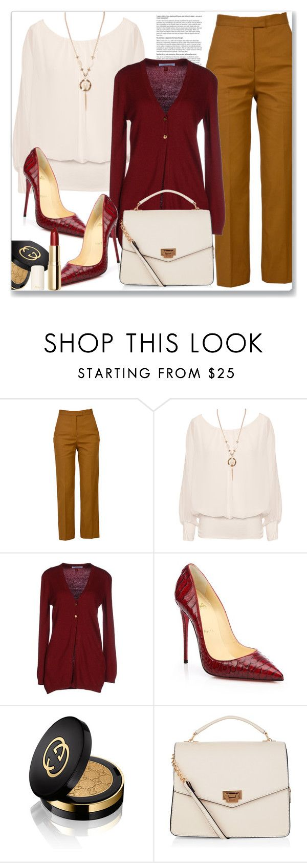 """""""All Dressed Up"""" by queenvirgo ❤ liked on Polyvore featuring MSGM, WearAll, Blumarine, Christian Louboutin, Gucci, New Look and H&M"""