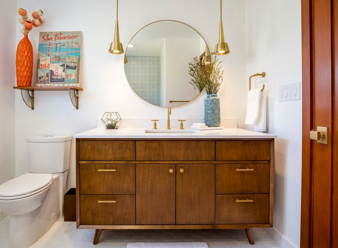 Midcentury Bathroom By Custom Design Construction With Images