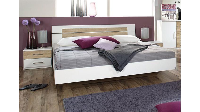 Schlafzimmer Burano ~ Bettanlage burano bett in weiß und sonoma eiche cm haus