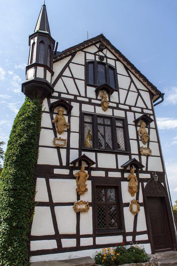 German House Designs: Half-timbered House At Castle Lichtenstein By SafariBear