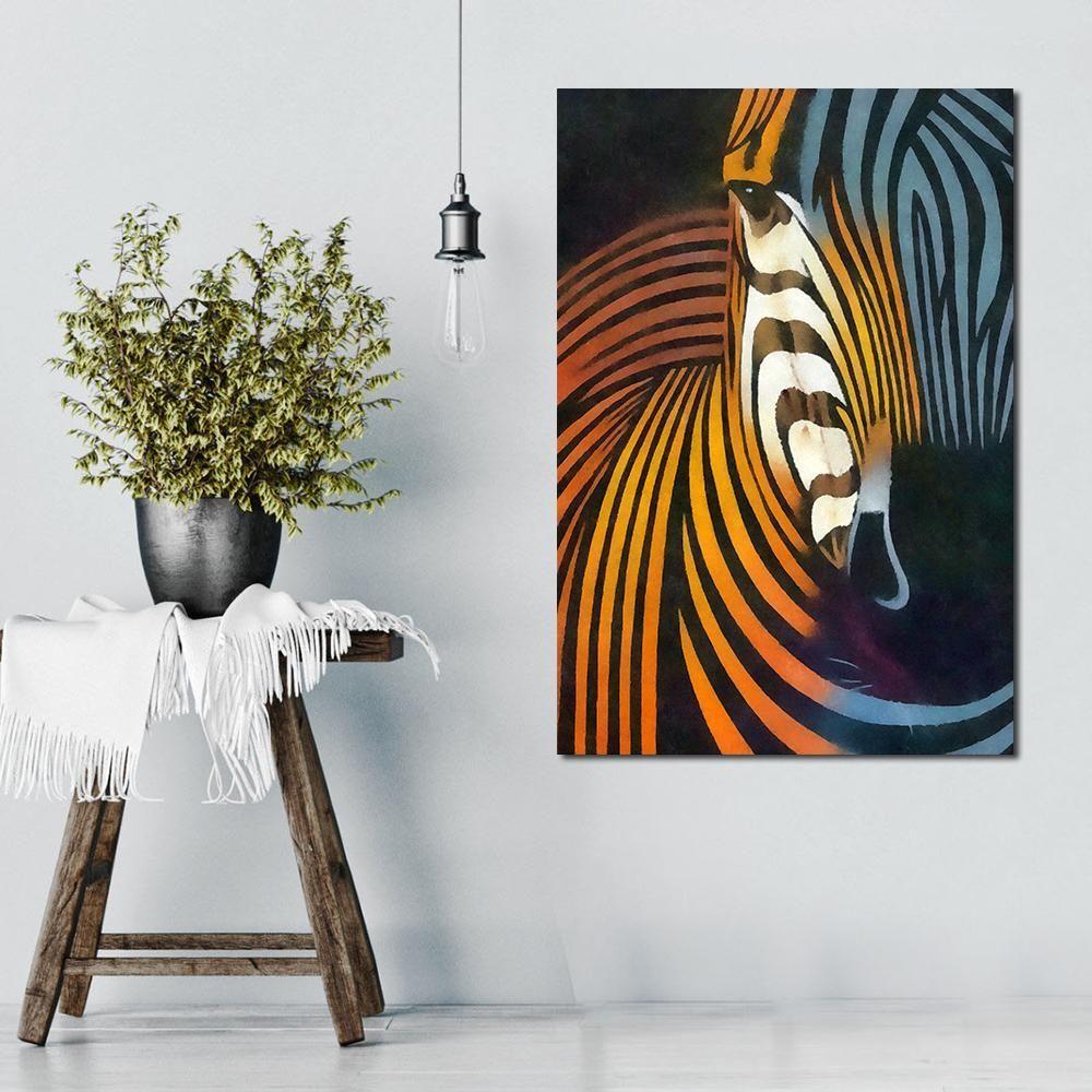 """Hooper"" Zebra Abstract Canvas Wall Art | Zebra Room ..."