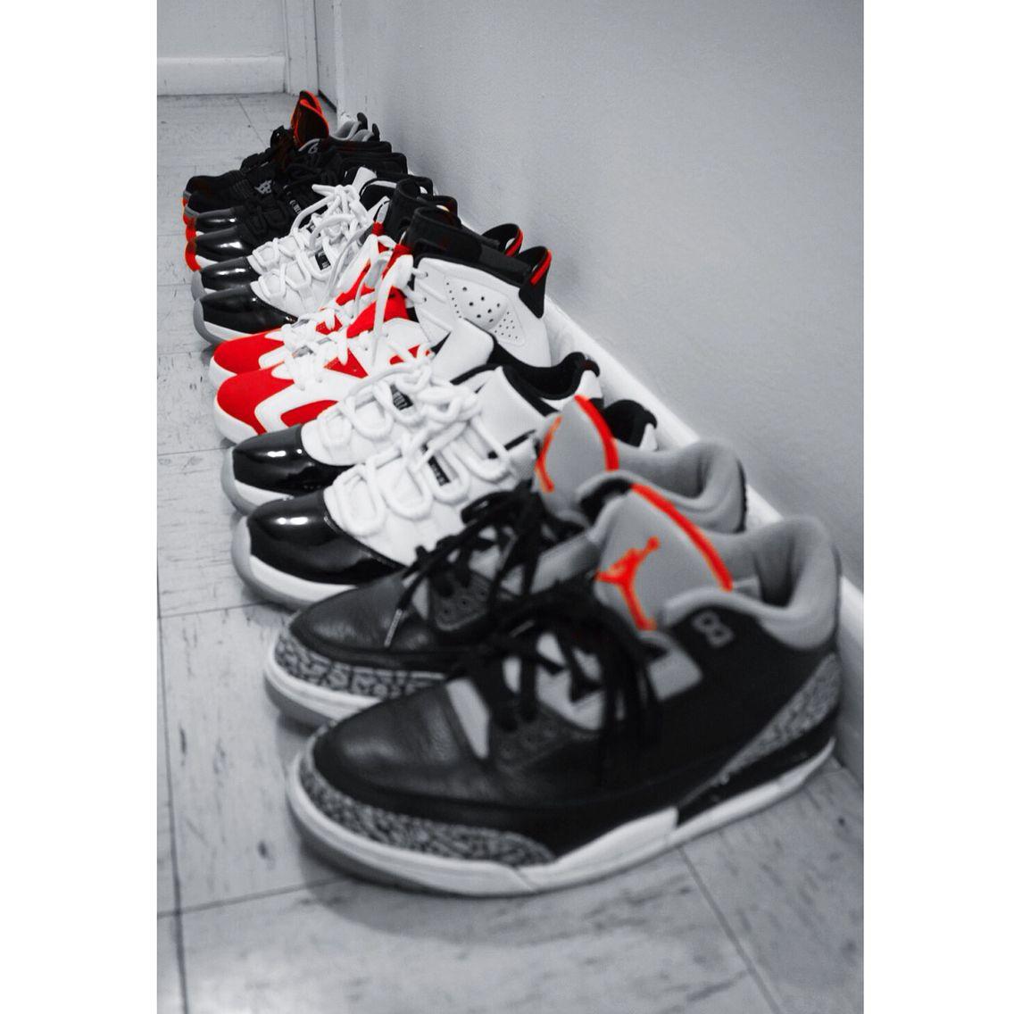 """Air Jordan Retro 3s """"Black Cement""""  11s Low """"Concord"""" 6s """"Carmine"""" 11s Mid """"Concord"""" 11s Mid """"Bred"""" 4s """"️Bred"""""""