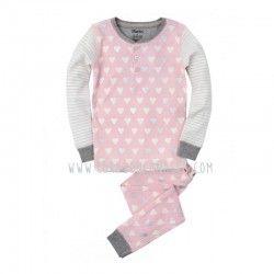 Pijama niña, Hatley, corazones metalizados. corazoncanalla.com