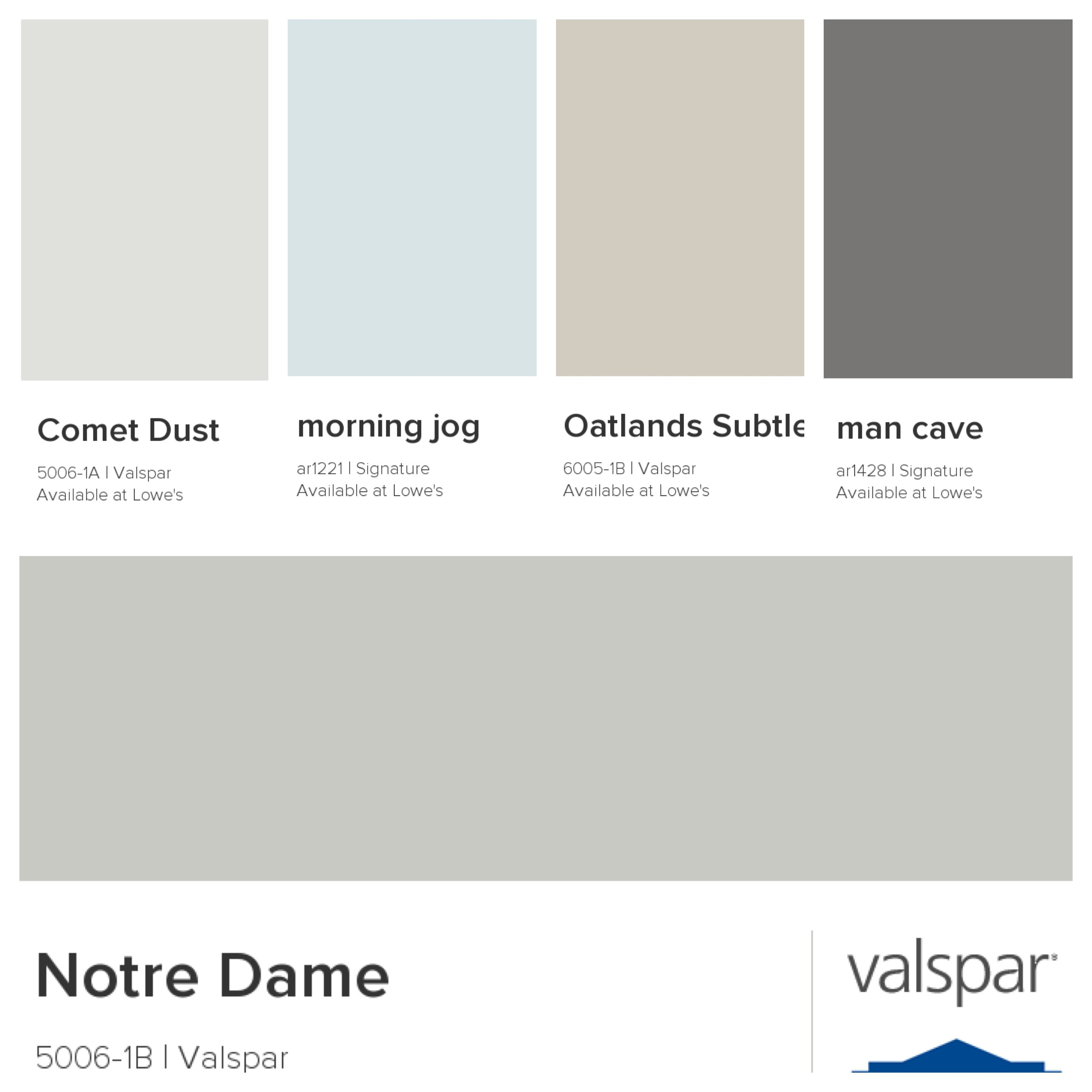 Notre Dame Living Room Main House Comet Dust Bedrooms Morning Jog Utility Oatlands Subtle Taupe Bathrooms Man Cave Office
