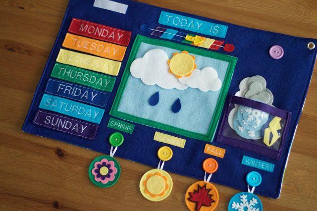 Weekly Weather Felt Board by Today I Felt Crafty