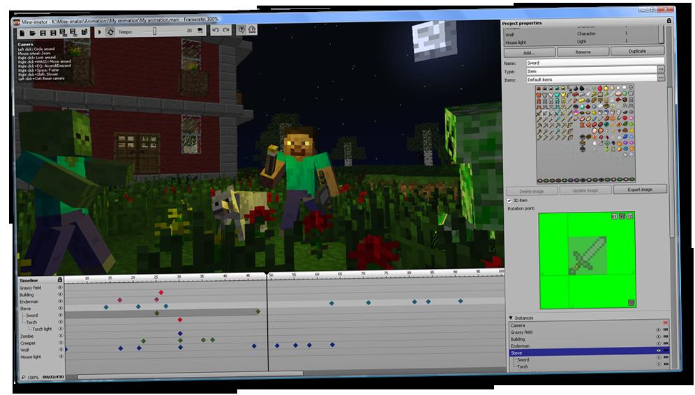 Программу анимацию картинки майнкрафт