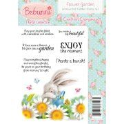 Crafters Companion Bebunni Floral Unmounted Rubber Stamp - Flower Garden Stamp