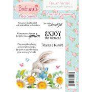 Crafters Companion Bebunni Floral Unmounted Rubber Stamp - Flower Garden Stamp