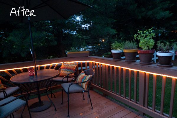Rope Lights Outdoor Deck : Mood lighting / rope light on deck Done Pinterest Rope lighting and Decking