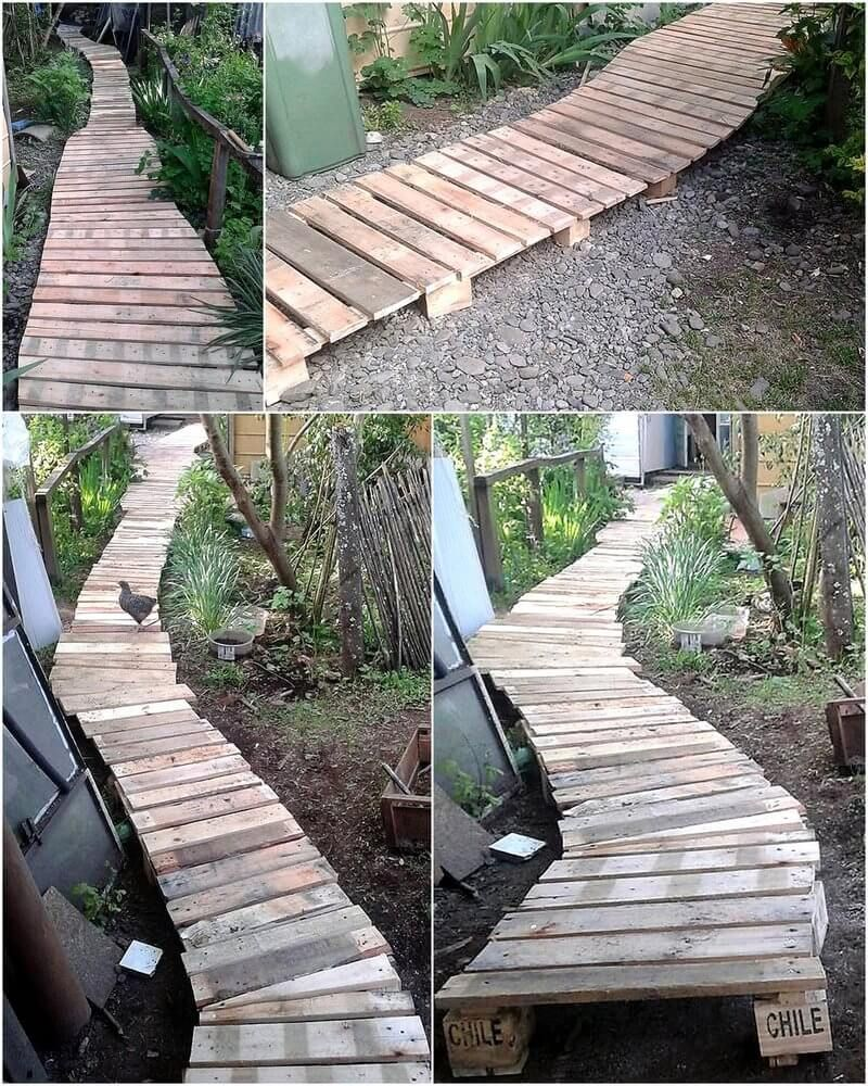 Upcycle Your Junk Pallet Wood For New Look In 2020 Pallet Projects Garden Pallets Garden Diy Garden Furniture