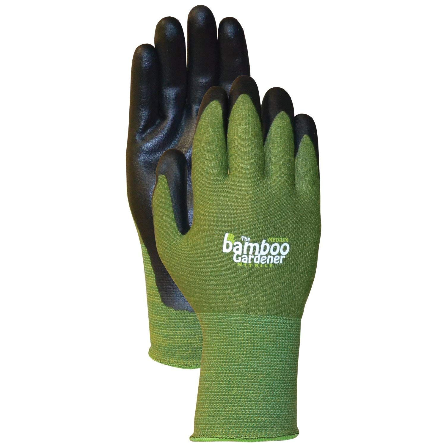 Gardening Gloves Rayon Fiber Washable Durable Nitrile Palm