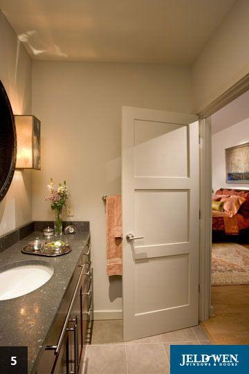 3 Panel Door Prefer Over 5 Painttrim Pinterest Doors
