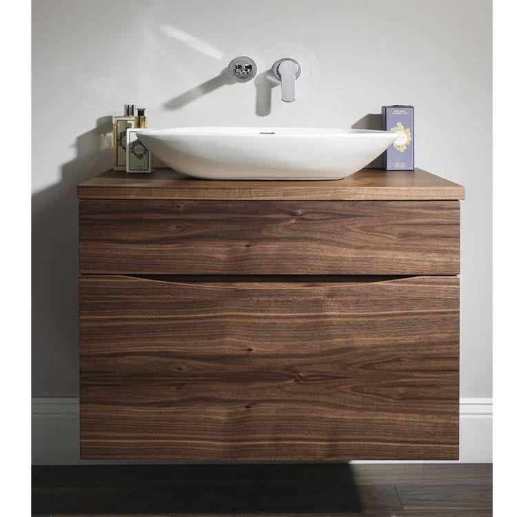 Bauhaus Glide Ii 70 American Walnut Vanity Unit Worktop