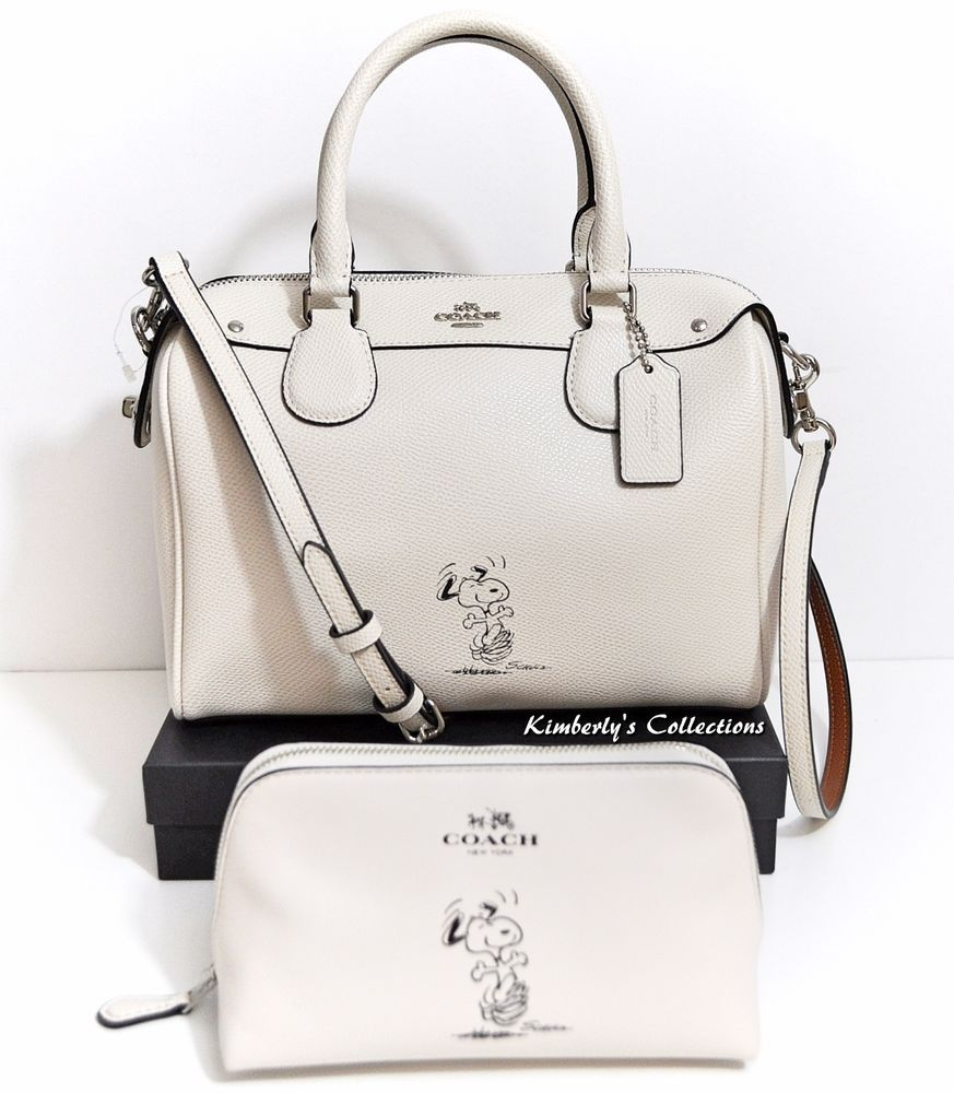 18fe9fc4c26e COACH X Peanuts SNOOPY Ltd. Mini Bennett White Satchel Bag   Cosmetic Case  NWT  Coach  SatchelCrossBody