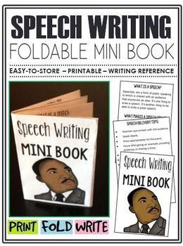 This mini-book is a great addition to any classroom where students are learning how to write a speech. $