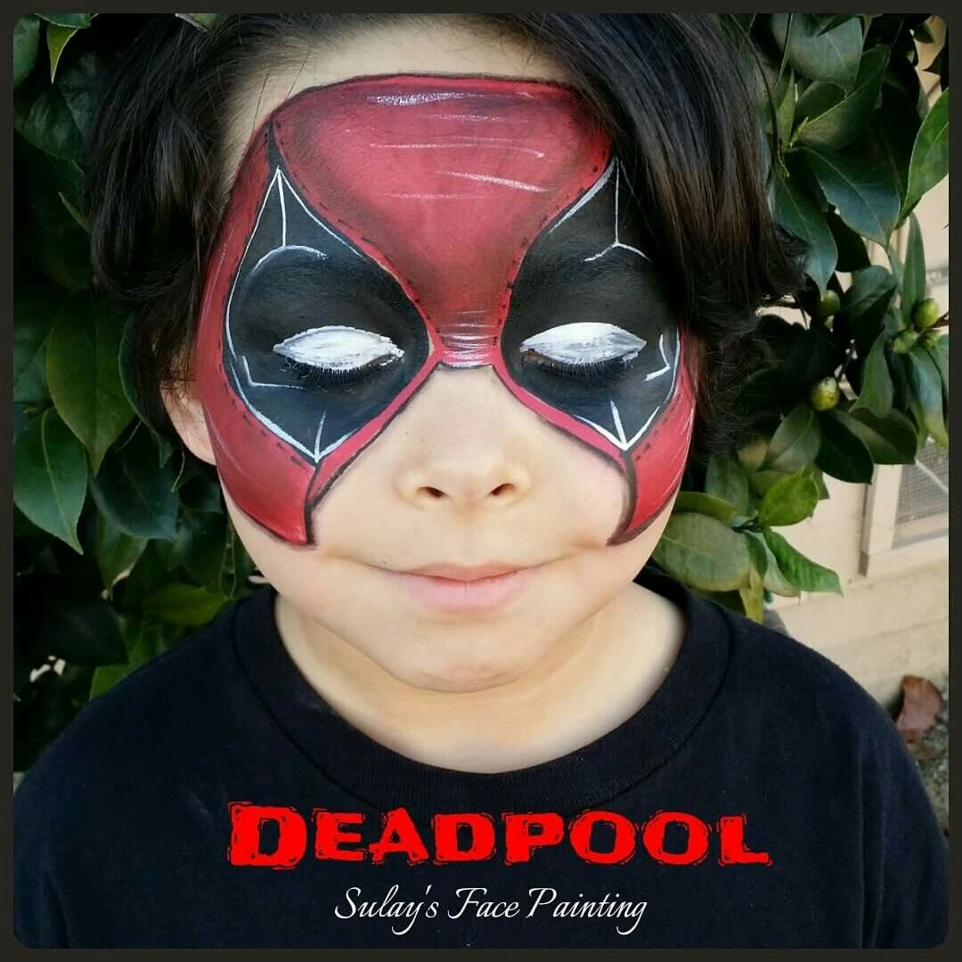 deadpool face painting kinderschminken pinterest. Black Bedroom Furniture Sets. Home Design Ideas