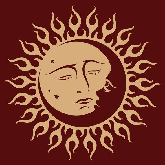 Sun And Moon Wall Decor sun and moon vinyl wall art decal sticker | stencils | pinterest