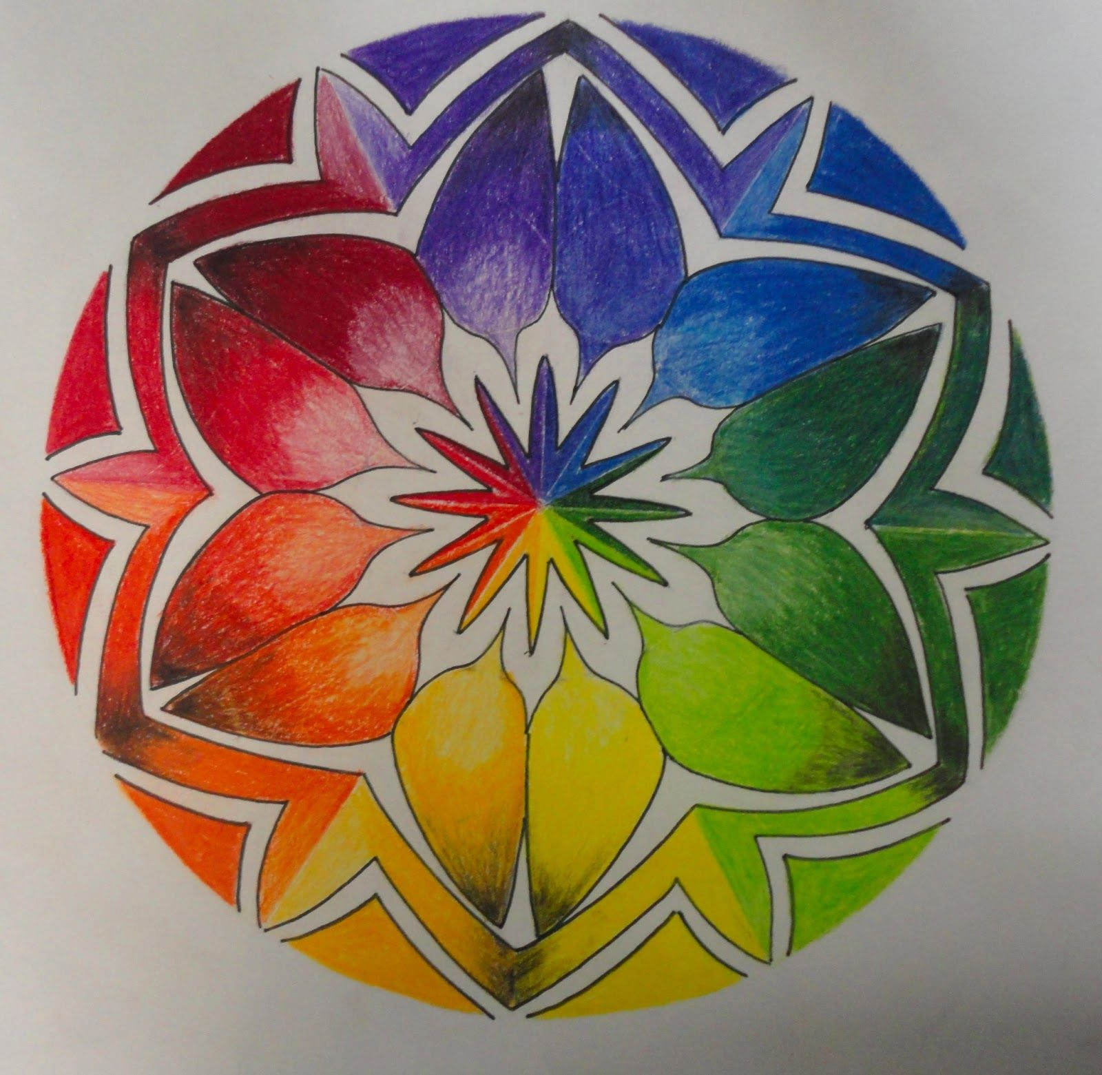 Color Wheel Design Drawing