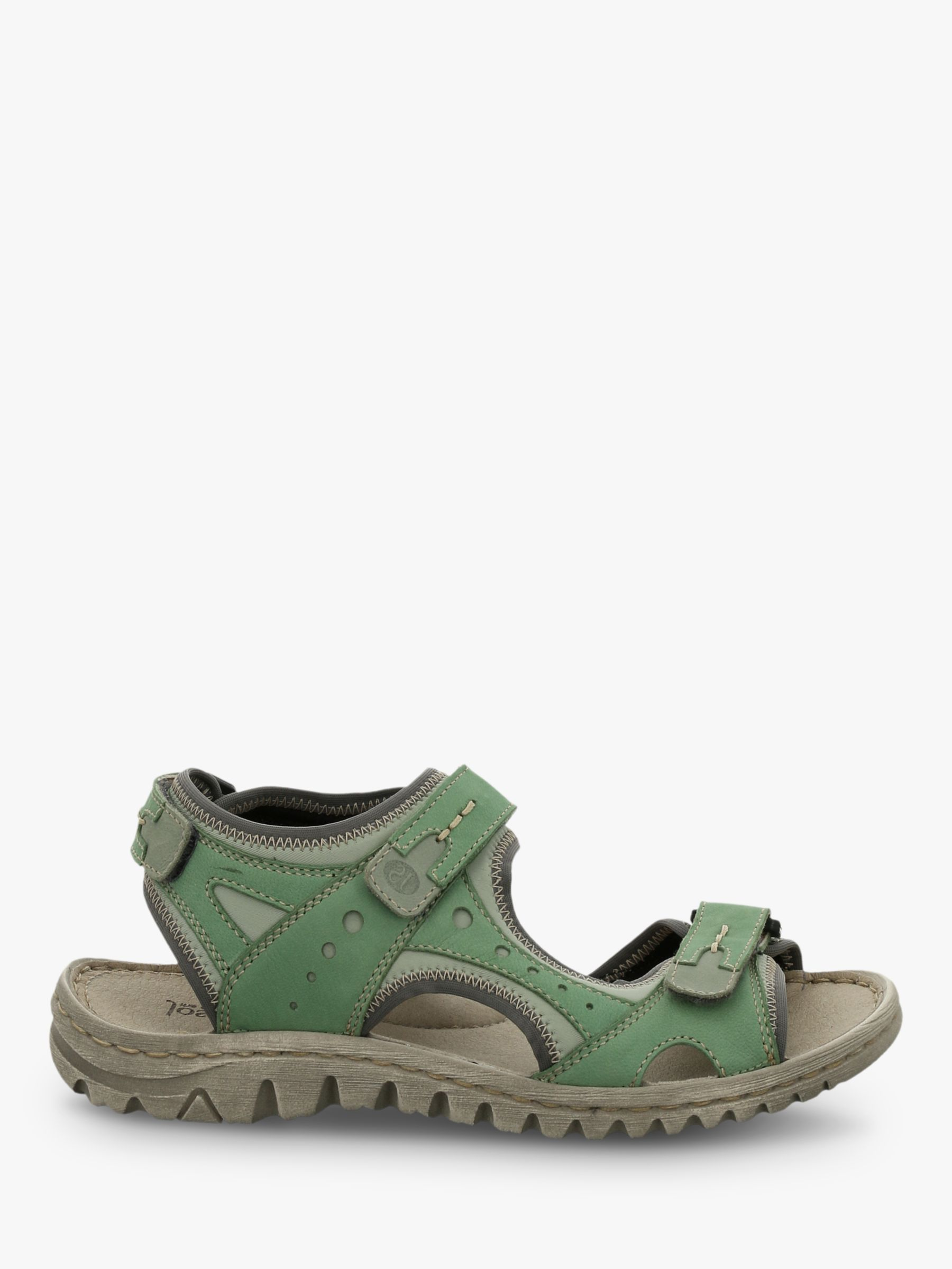 Josef Seibel Lucia 17 Triple Strap Sandals, Green Mix