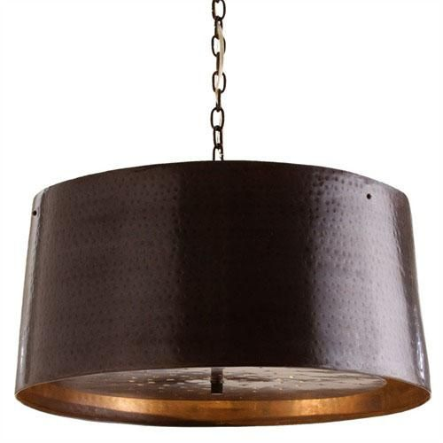 The anderson iron pendant from arteriors is a beautiful hand the anderson iron pendant from arteriors is a beautiful hand hammered painted drum pendant aloadofball Choice Image