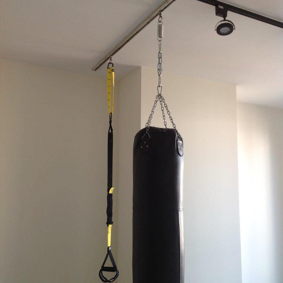 TuffRail system to mount heavy bags and TRX suspension training kit ...