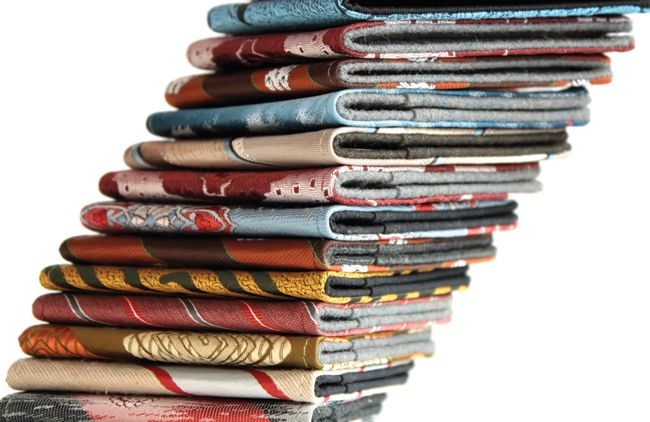 sustainably designed wallets made from old fabric pieces or textile swatches