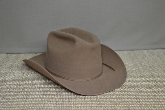 bfce07746a1981 Resistol 3X Beaver Cowboy Hat, Size 7 3/8, Self Conforming, Cowgirl ...