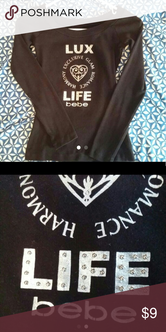 Vintage BEBE LUX LIFE Good condition, tag is gone but it was a small. bebe Tops Tees - Long Sleeve