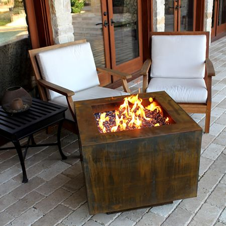 Basa Fia 30 Corten Hidden Tank Fire Pit Woodlanddirect Com