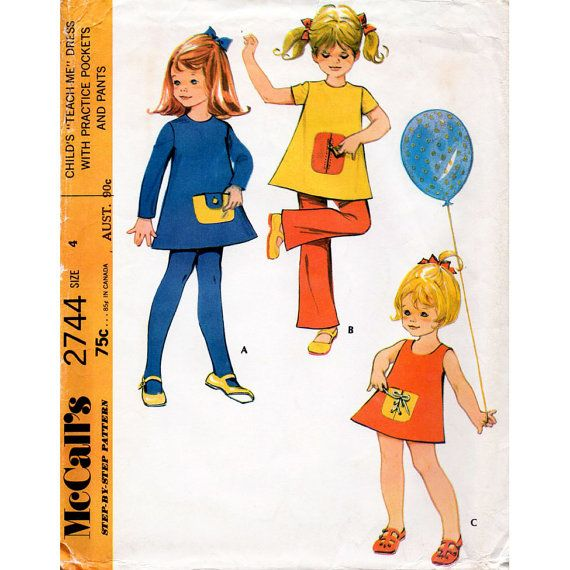 1970s Girl\'s Teach Me Dress and Trousers Vintage by BessieAndMaive ...
