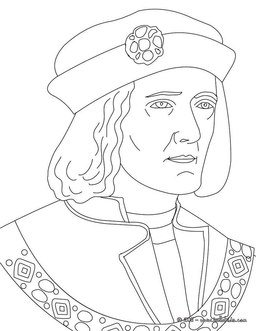 King Richard Iii Coloring Page With Images Coloring Pages