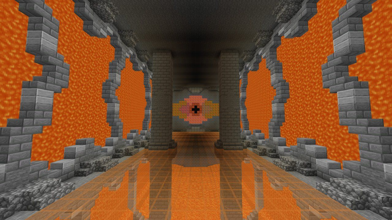 I Built A Grand Lava Room With A Stained Glass Floor Minecraft