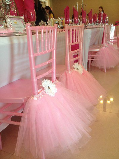 Pink Chiavari Chairs With Pink Tulle Tutu Chair Skirts ~  Allaboutentertainment.com