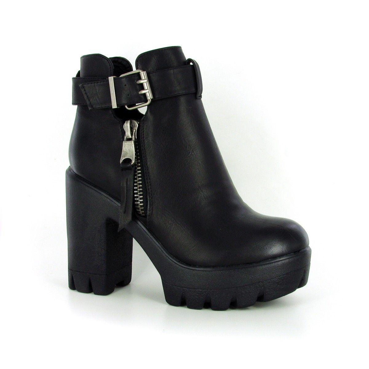 bottine mirza noir : la bottine noire compensée parfaite pour un