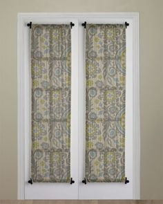 Curtain Idea With Rod At Top And Bottom To Dress Up Bedroom Balcony Door For Inside Main Front Not Double Like This But Single Panel