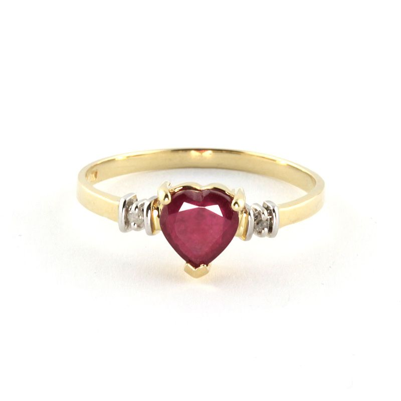 4db088b884d5d Ruby & Diamond Heart Ring in 9ct Gold | a girl needs her bling ...