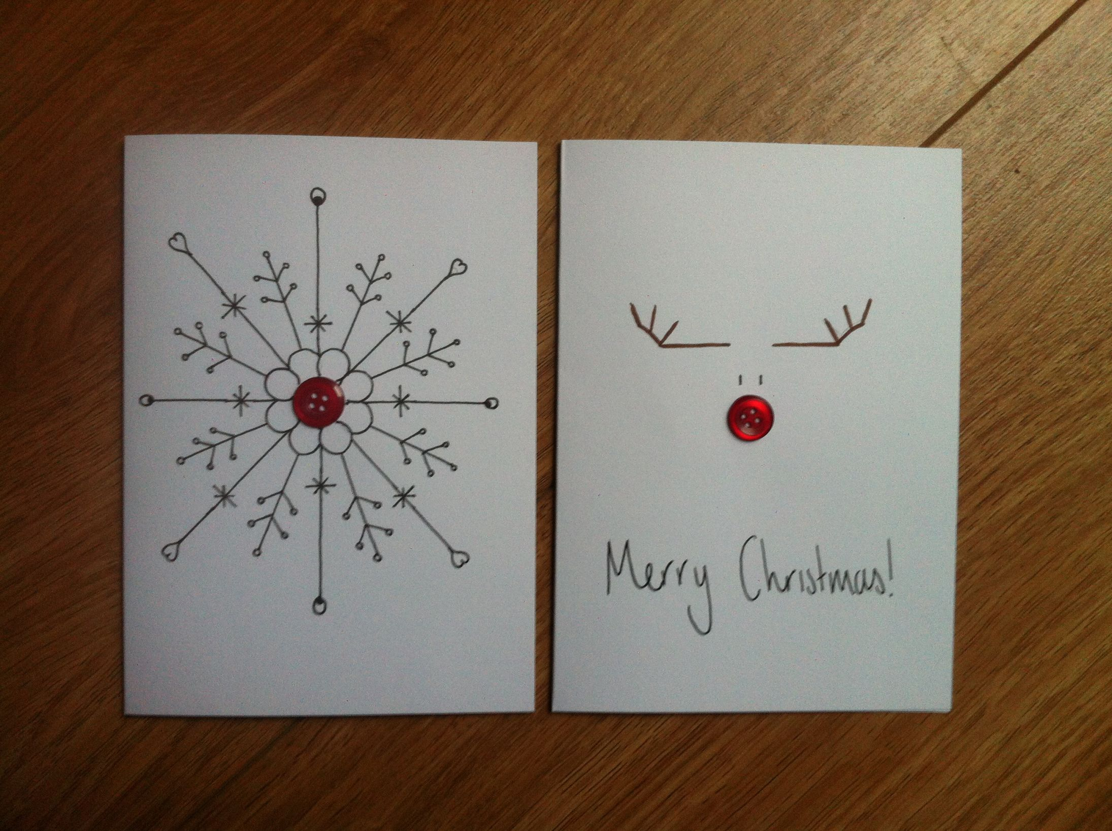 Button Craft Christmas Cards Christmas Card Crafts Diy